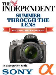 Win a Sony a380 Digital SLR Camera in Summer Through The Lens Contest From The Independent