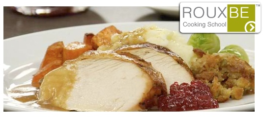 Rouxbe Teaches Home Cooks How to Cook a Turkey and Orchestrate a Stress-Free Traditional Thanksgiving Dinner